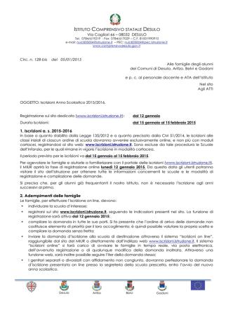 CIRC. 128-bis-Iscrizioni a.s. 2015-2016