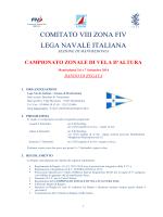 il Bando di Regata - Comitato VIII zona