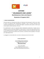 """AVVISO """" VELEGGIATA DEI LEONI"""""""