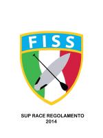 SUP RACE REGOLAMENTO 2014