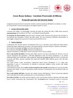 Protocolli operativi stadio - Croce Rossa Italiana Comitato Locale di