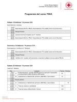 Programma del corso TSSA - Croce Rossa Italiana