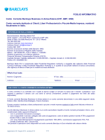 Foglio Informativo Conto Corrente Barclays Business in divisa Estera