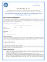 foglio informativo ai sensi della nuova normativa in