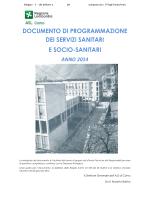 Documento programmazione e coordinamento dei
