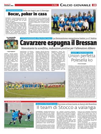 Calcio Giovanile Cavarzere espugna il Bressan