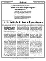 La mia Sicilia, buttanissima, fogna di potere