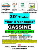 """30°Trofeo """"Bar Il Ventaglio"""""""