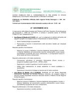 BANDO BDS statistico unificato