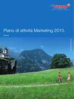 Piano di attività Marketing 2015. - Area Istituzionale