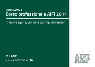 Corso professionale aIFI 2014