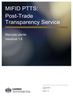 MIFID PTTS: Post-Trade Transparency Service