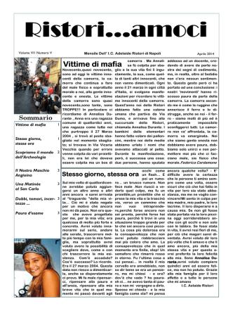 Aprile - Istituto Comprensivo Adelaide Ristori Napoli