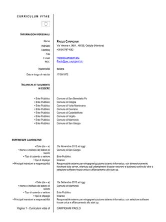 CV Dott. Carpigiani - Gazzetta Amministrativa