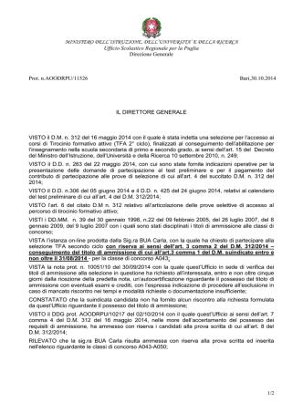 A043_BUA_Decreto USR TFA esclusioni