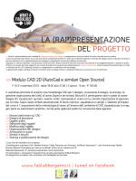 Modulo CAD 2D - Fablab Bergamo in Patronato Hub