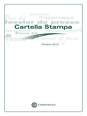 Cartella stampa Ottobre 2014