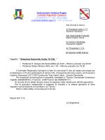 """Al Tecnico Cioffi Franco Oggetto: """" Selezione femminile Under 16"""