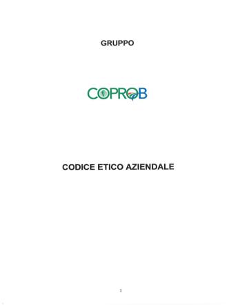 Codice etico Gruppo COPROB