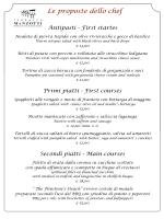 Le proposte dello chef Antipasti - First startes