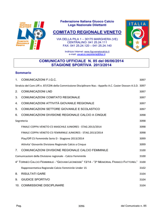 Com_N85_Unico - F.I.G.C. Veneto