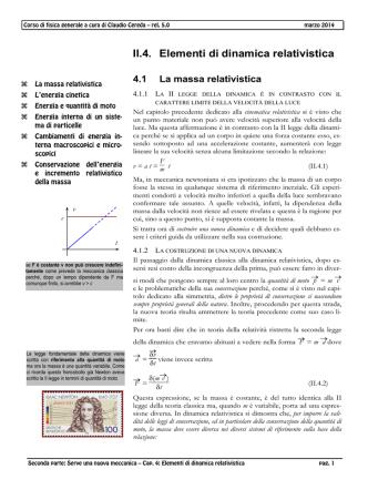 0204 Elementi di dinamica relativistica