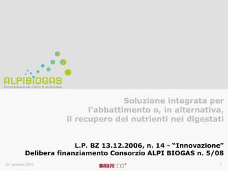 ALPI BIOGAS - BTS Biogas