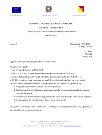 Calendario e O.d.G - Liceo Concetto Marchesi