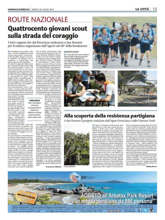 400 giovani scout sulla strada del coraggio – Giornale di Brescia