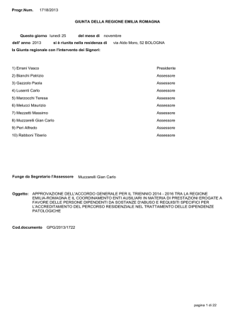 Accordo RER CEA e Requisiti Rex - Regione Emilia