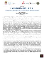 LA LEGALITÀ NELLA P.A.