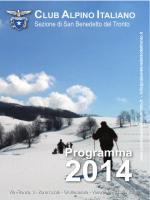 Programma 2014 - Cai San Benedetto del Tronto