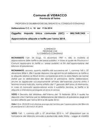 CC 14_VIDRACCO IUC aliquote e tariffe 2014