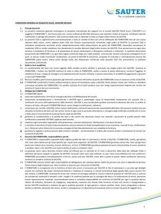 CONDIZIONI GENERALI DI ACQUISTO (CGA