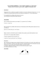 Corso di FISICA GENERALE I - C.d.S. in Chimica