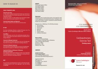 Cardiopulmonary Exercise Test - Società Italiana di Cardiologia