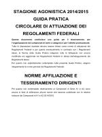 Norme Tesseramento Affiliazione e Dirigenti 2014