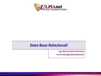 Data_BASE - Maria Grazia Celentano