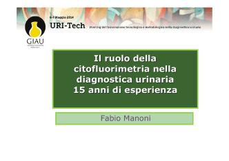 15 anni di esperienza (Fabio Manoni)