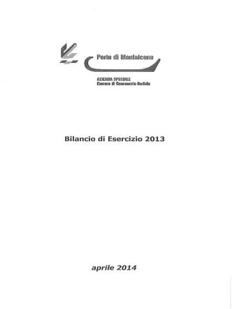 Bilancio Consuntivo anno 2013 - CCIAA di Gorizia