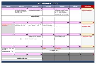 calendario genitori