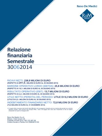 1° semestre 2014 - Reno De Medici