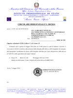 CircDirig 240_14 – concvocazione GLHO allievo C.A.R.