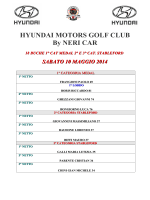 HYUNDAI MOTORS GOLF CLUB By NERI CAR 18 BUCHE 1° CAT