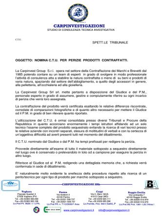 CAR CARPINVESTIGAZIONI - Cav. Giovanni Rabboni