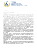 01.08.2014 Circolare nr 6/2014 MESSAGGIO DEL PRESIDENTE Car