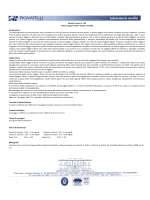 Scheda tecnica - Laboratorio Analisi Cliniche Dr. P.Pignatelli srl