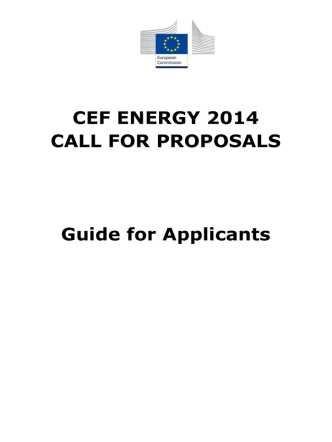 CEF ENERGY 2014 CALL FOR PROPOSALS Guide for Applicants