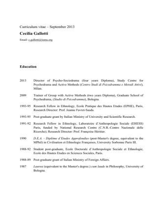 Cecilia Gallotti - Fondazione ISMU