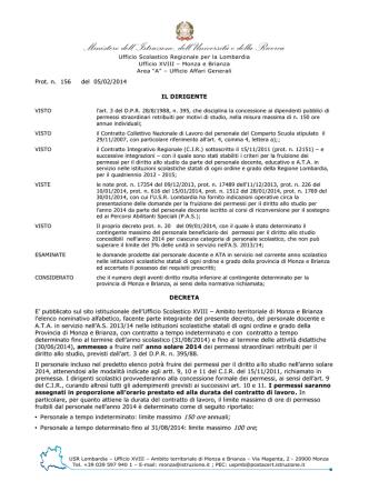 Decreto prot. n. 156 del 05/02/2014 - Ufficio scolastico regionale per